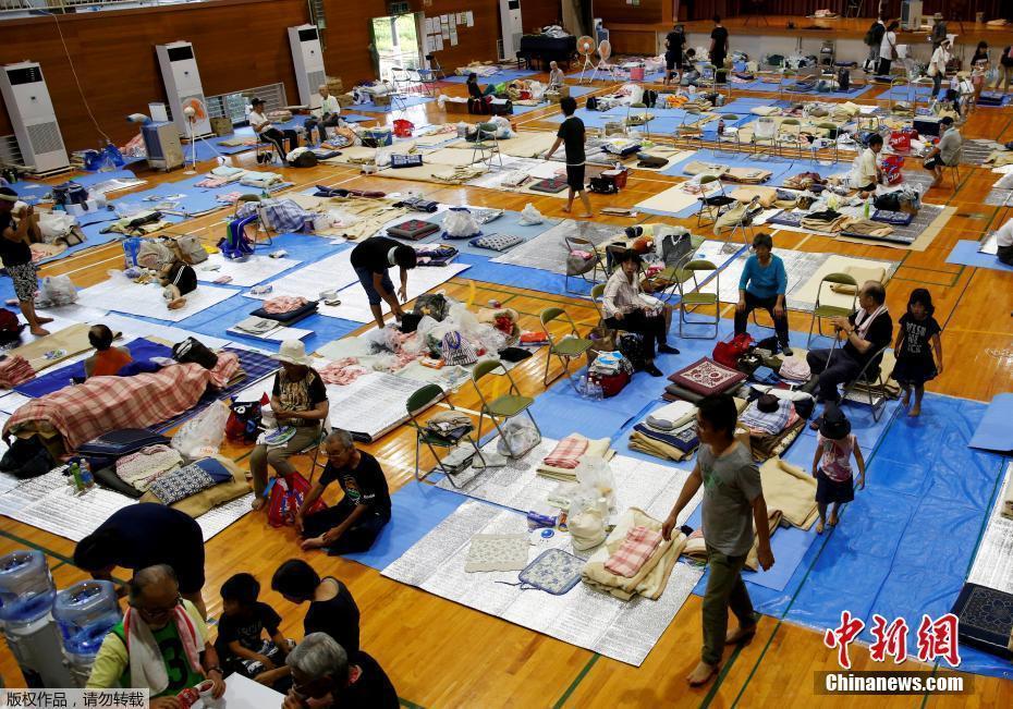 日本遭遇近30年来最严重水灾 民众撤离进入避难所