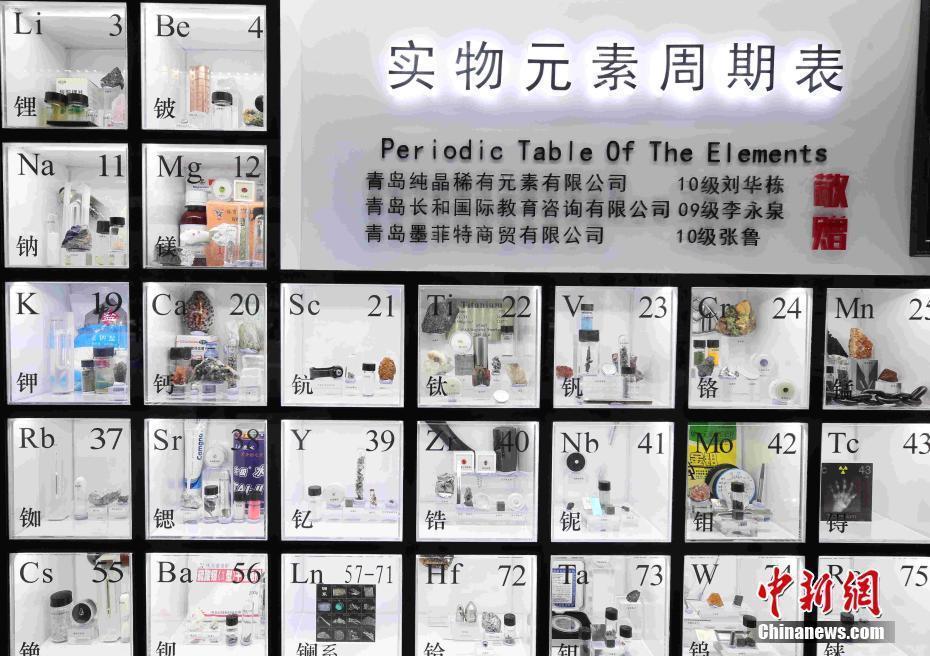 涨知识!快来看看实物化学元素周期表