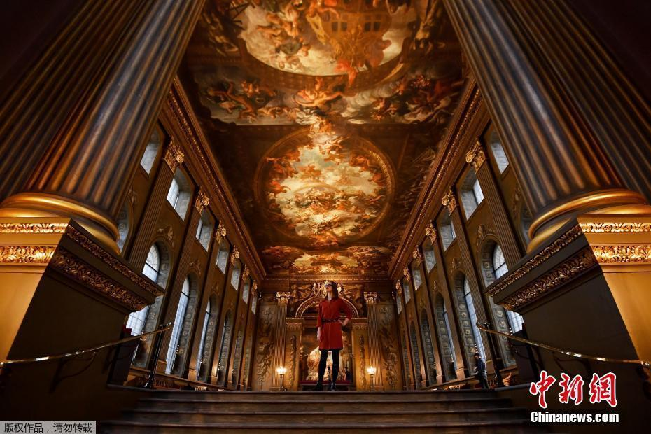 英国伦敦旧皇家海军学院大厅修复完成将向公众开放