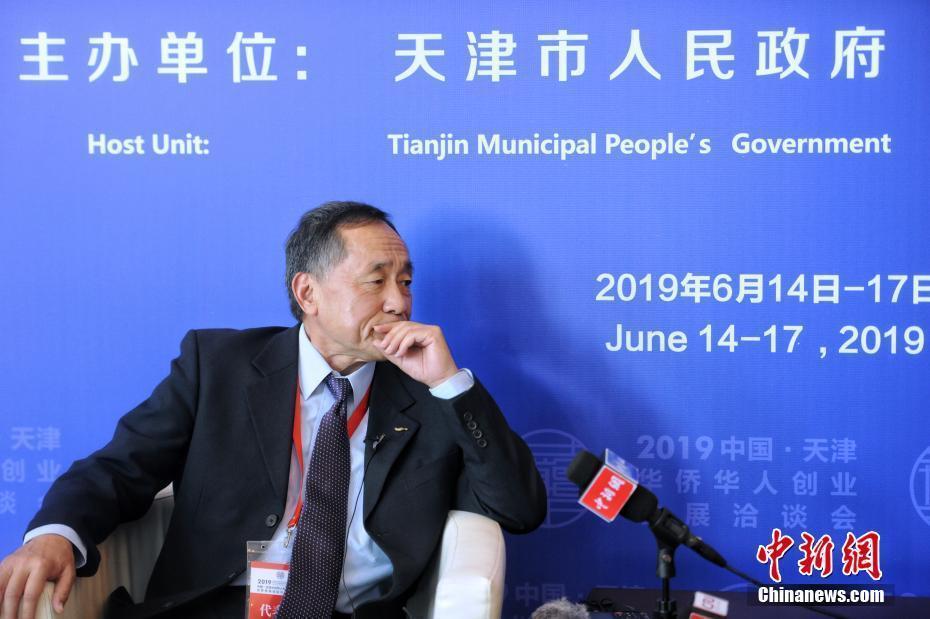 天津华博会开幕 华侨华人嘉宾代表接受记者采访