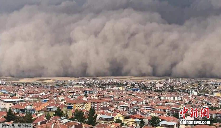 沙塵暴席卷土耳其首都安卡拉